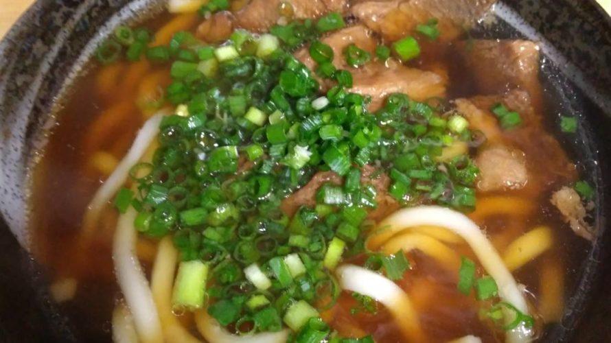 ふつうの白い麺の肉うどん