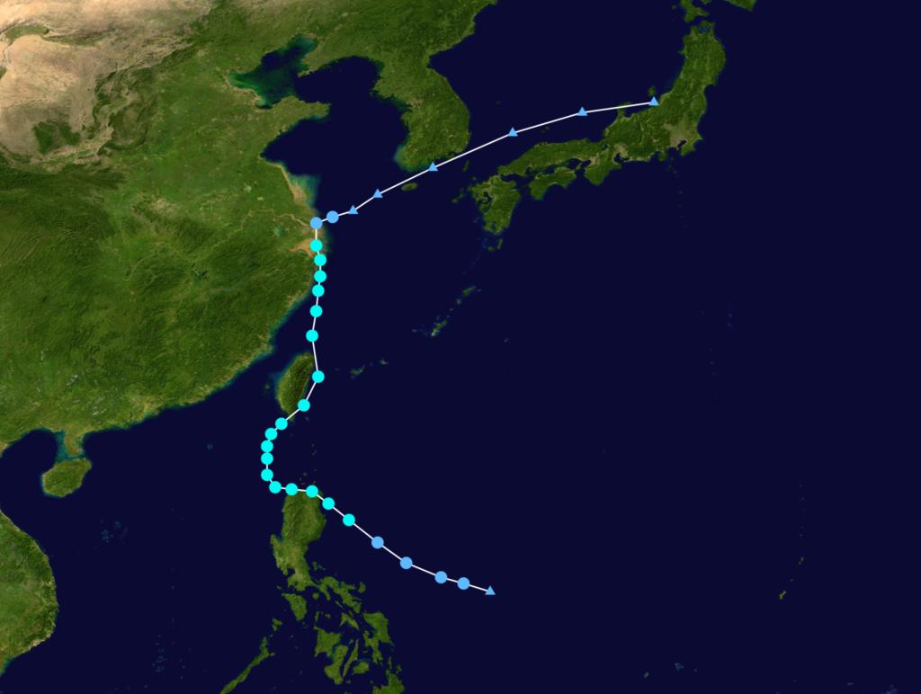 台風台北直撃天気図