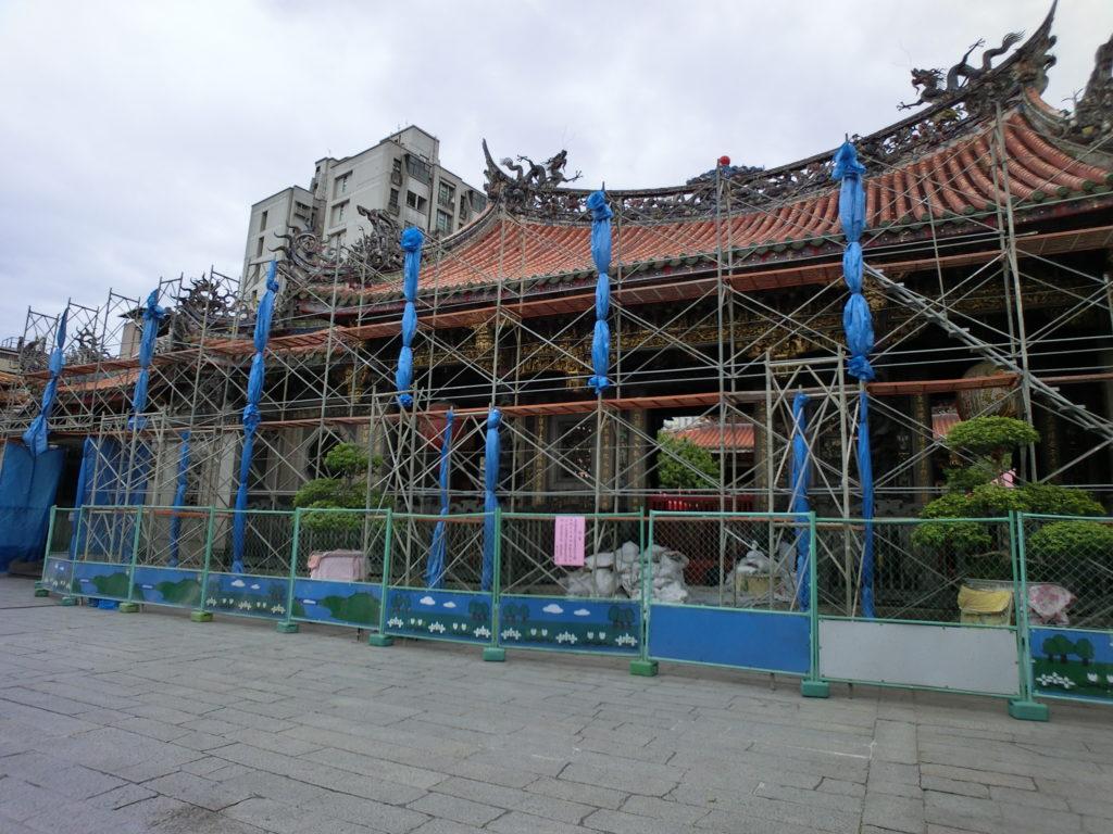 龍山寺改修工事