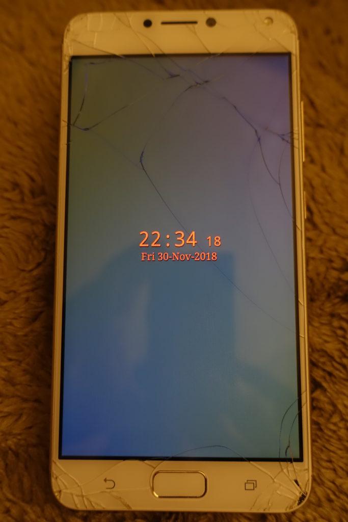 ASUS ZenFone 4 Max Pro 画面ひび割れ